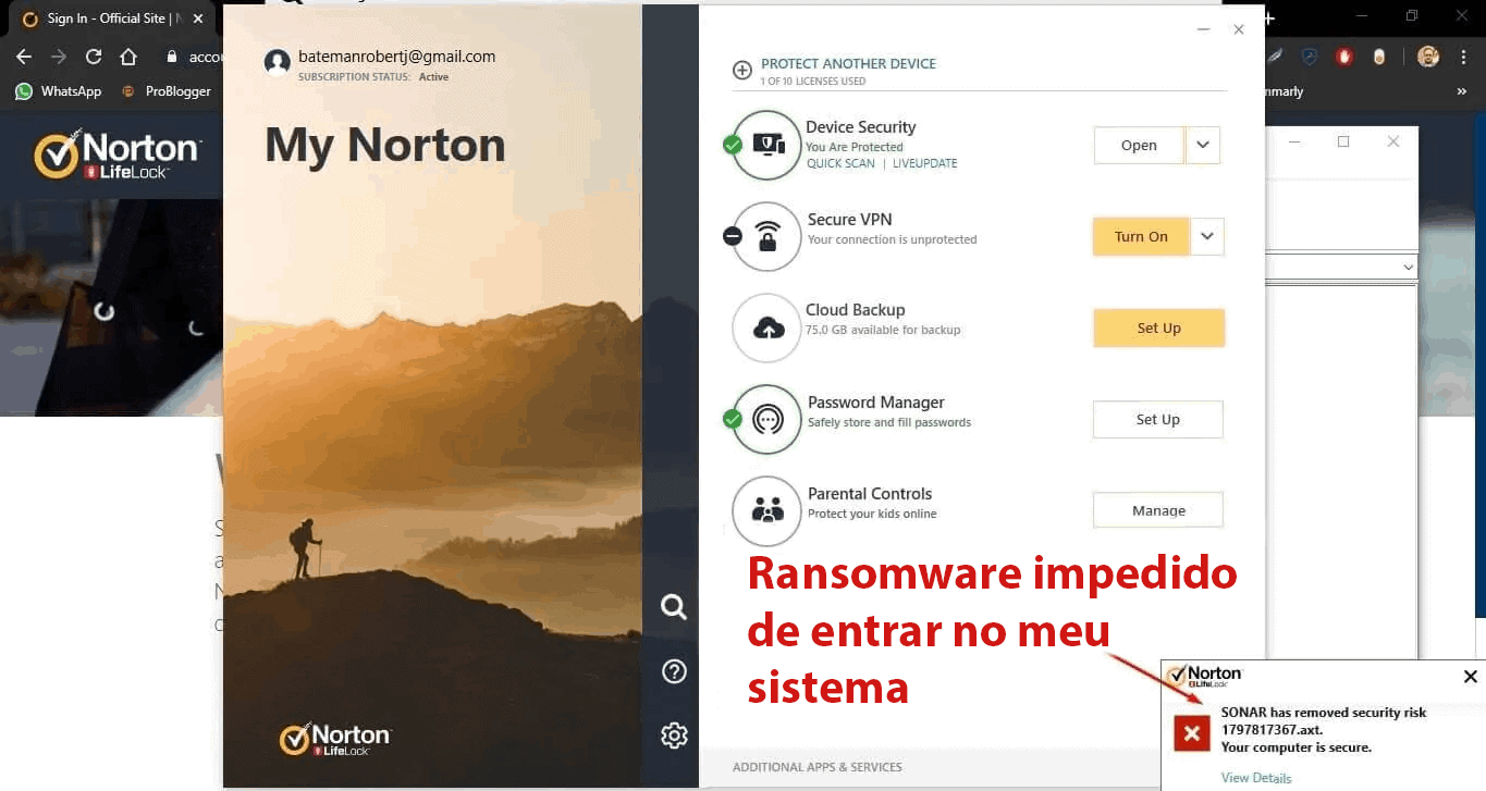 Recursos do Norton 360 Security