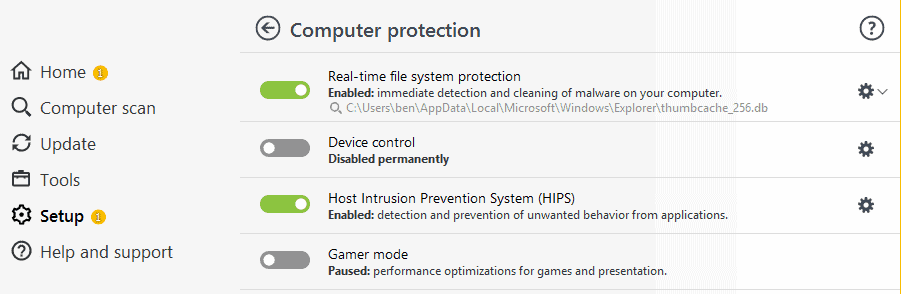 ESET Ease of Use and Setup