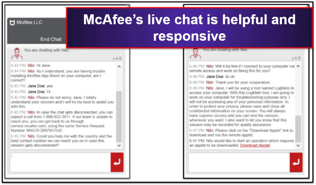McAfee Customer Support