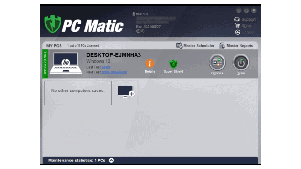 PC Matic Security Features