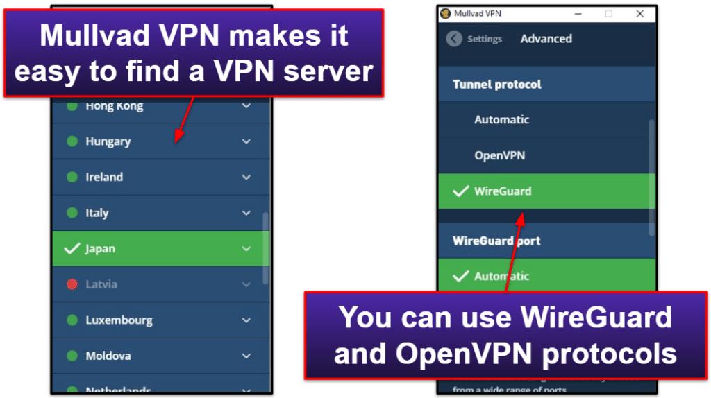 Mullvad VPN Ease of Use: Mobile & Desktop Apps