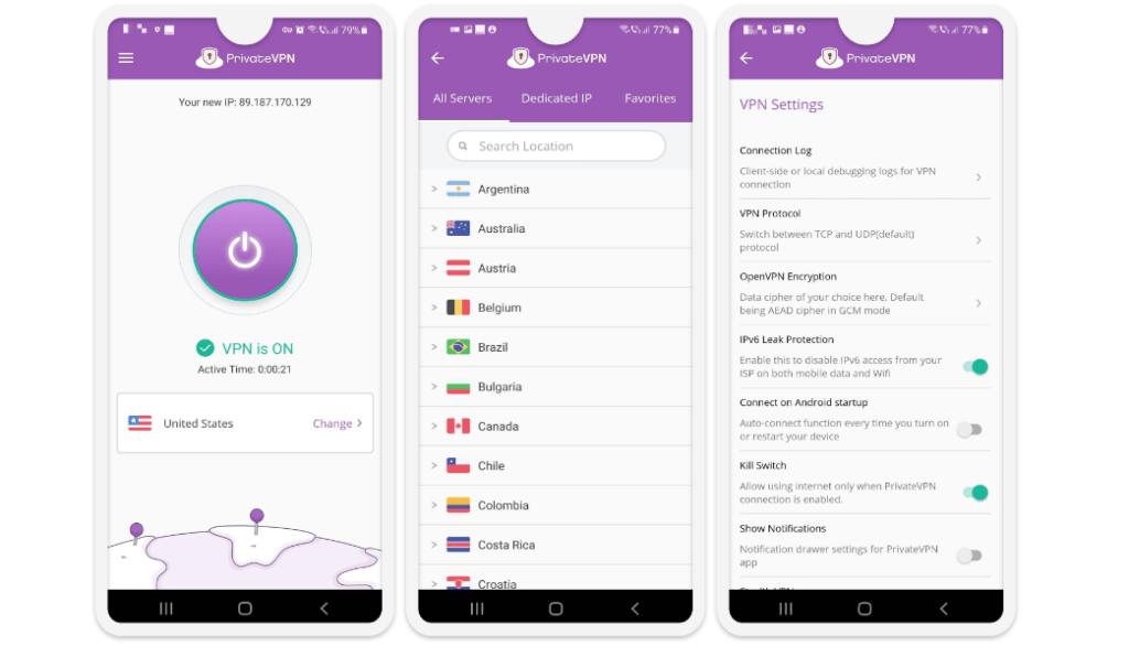 PrivateVPN Ease of Use: Mobile & Desktop Apps