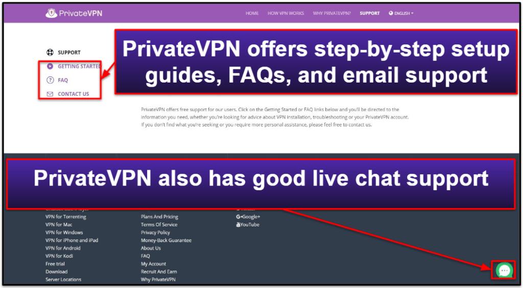 PrivateVPN Customer Support