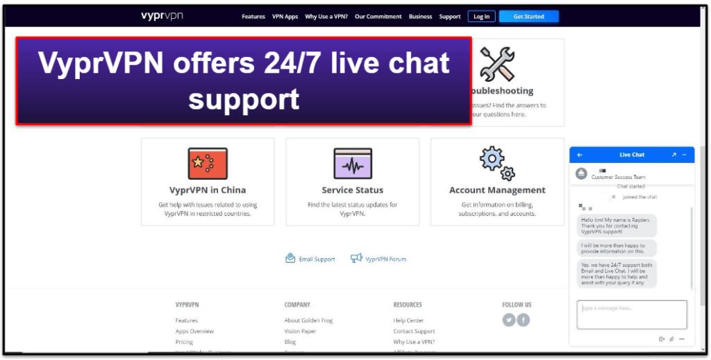 VyprVPN Customer Support