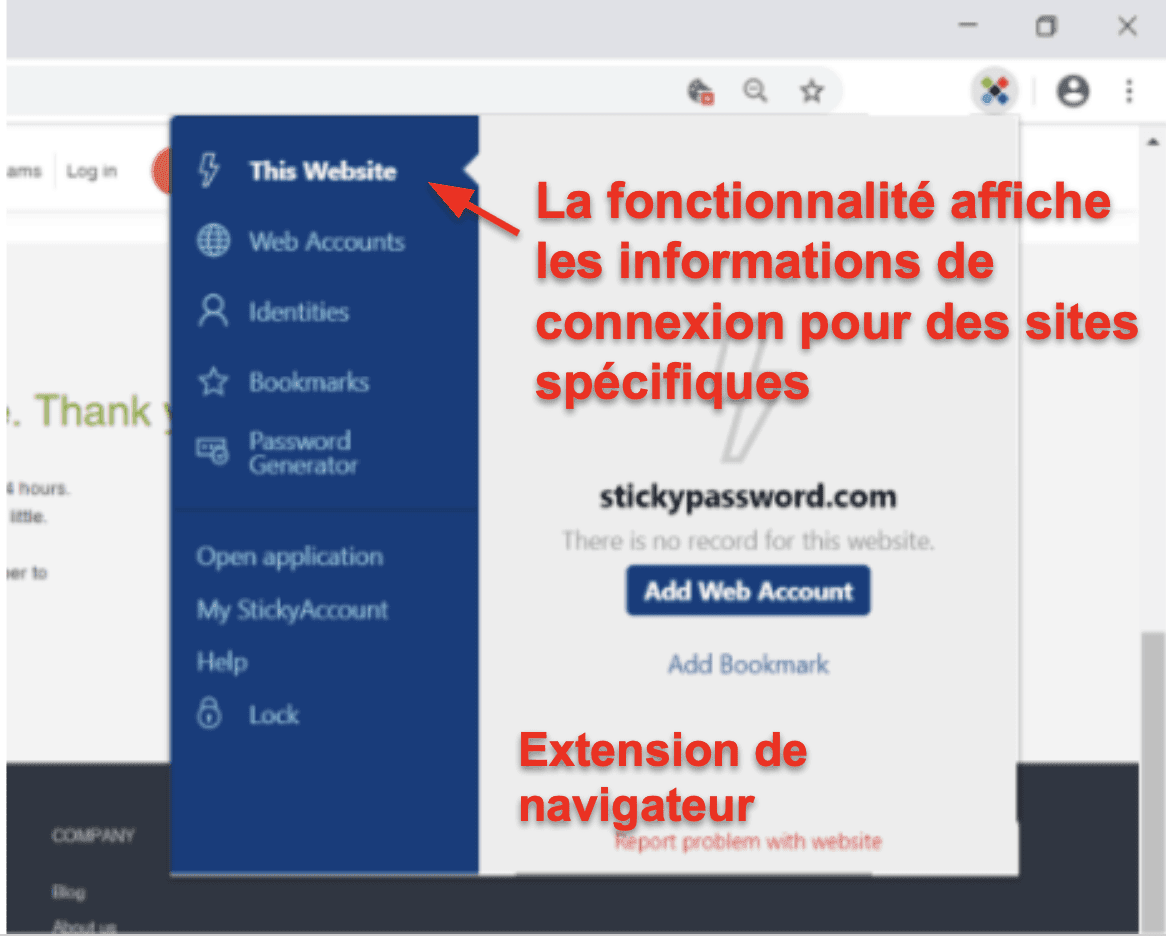 Facilité d'utilisation et de configuration de Sticky Password