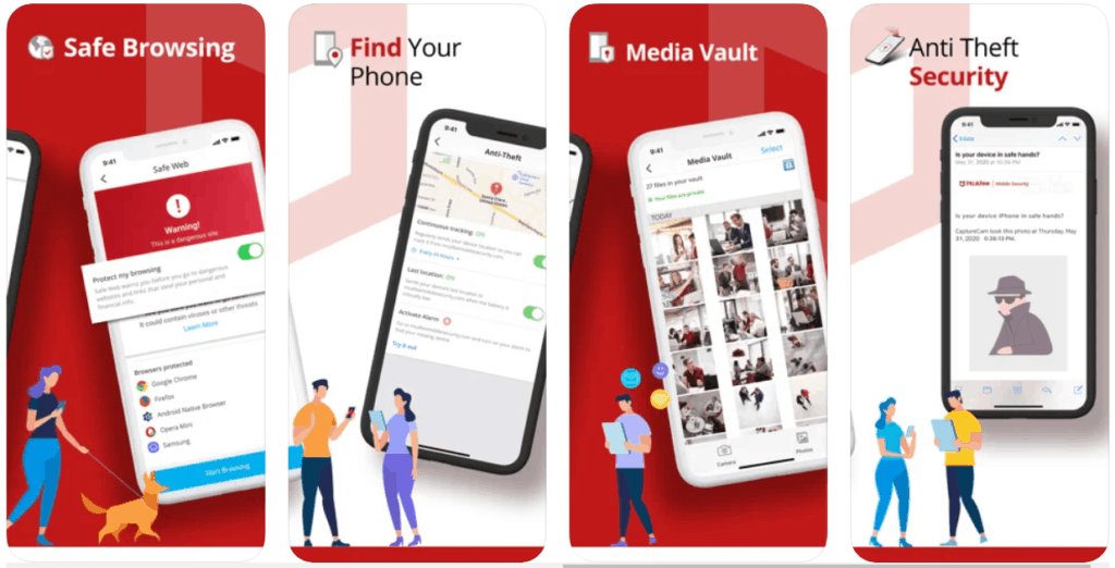 """🥇1. <a href=""""https://www.safetydetectives.com/go/vendor/ios/203/?post_id=9494&alooma_btn_name=Affiliate+Link+-+282690"""" title=""""McAfee"""" rel=""""sponsored noopener norefferer"""" target=""""_blank"""" data-btn-name=""""Affiliate Link - 282690"""" data-btn-indexed=""""1"""">McAfee Mobile Security</a> – Best Antivirus for iPhones + iPads"""