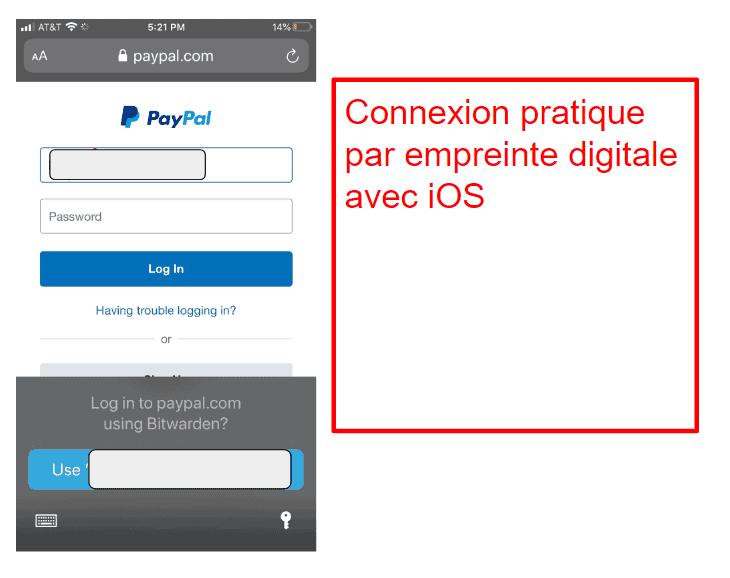 Application mobile de Bitwarden