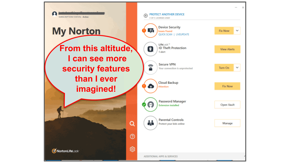 Norton 360 Ease of Use and Setup