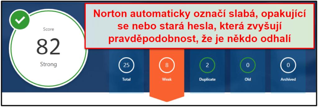 Bezpečnostní funkce Norton