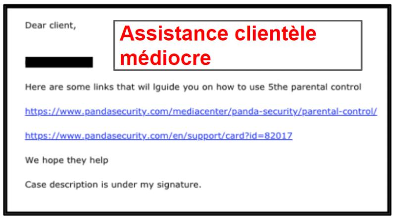 Assistance clientèle de Panda Dome