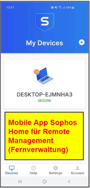 Mobile Virenschutz-App von Sophos