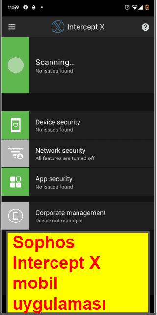 Sophos Antivirus Mobil Uygulaması