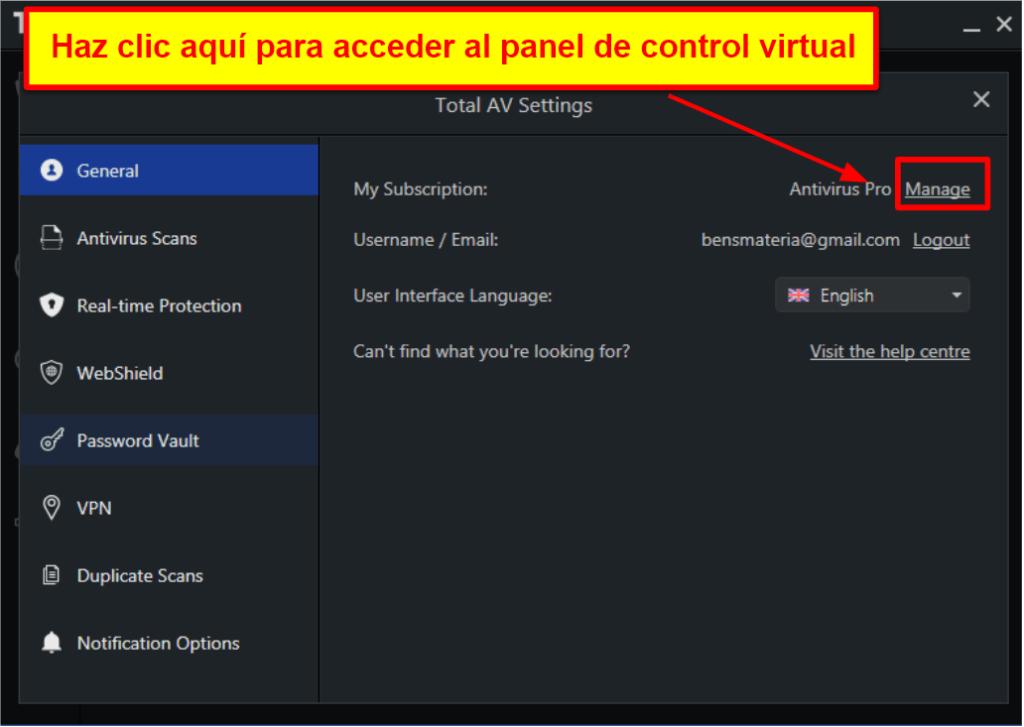 TotalAV: Fácil de usar y configurar