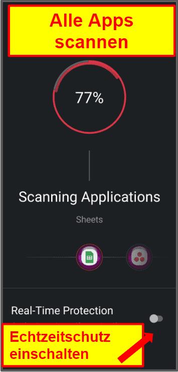 Die mobile App von TotalAV