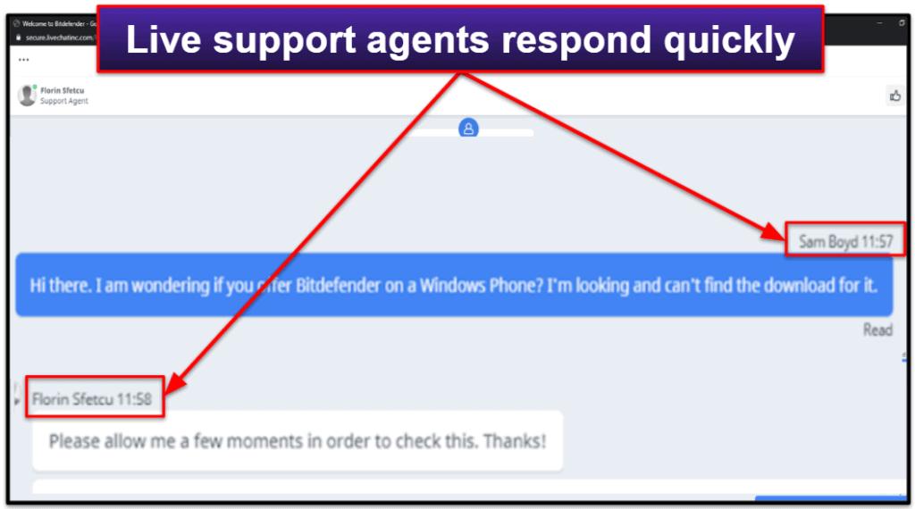Bitdefender's Customer Support