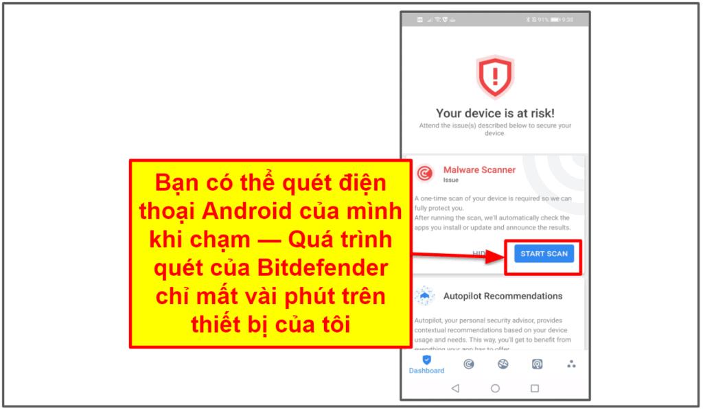 Ứng dụng di động của Bitdefender