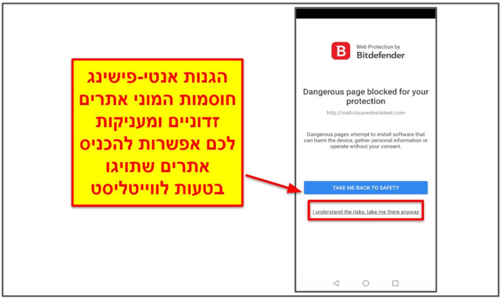 האפליקציה של Bitdefender לנייד