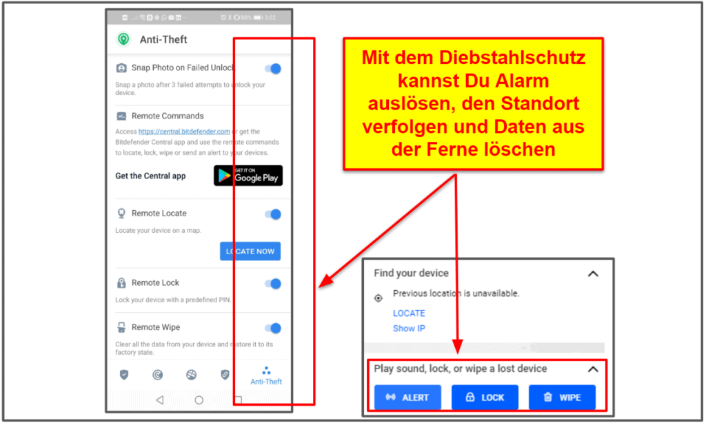 Die mobile Apps von Bitdefender