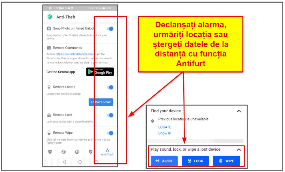 Aplicația mobilă Bitdefender