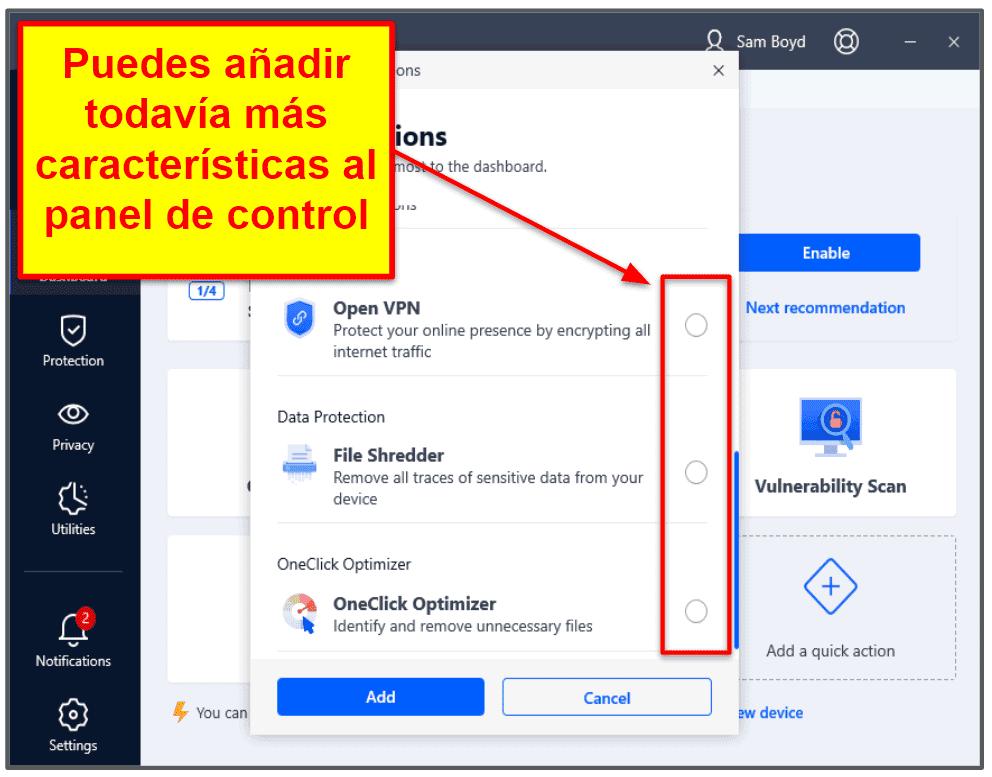Facilidad de uso y de configuración de Bitdefender