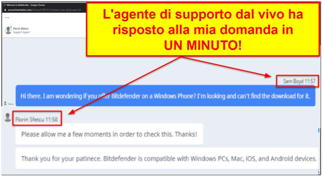 Supporto clientiBitdefender