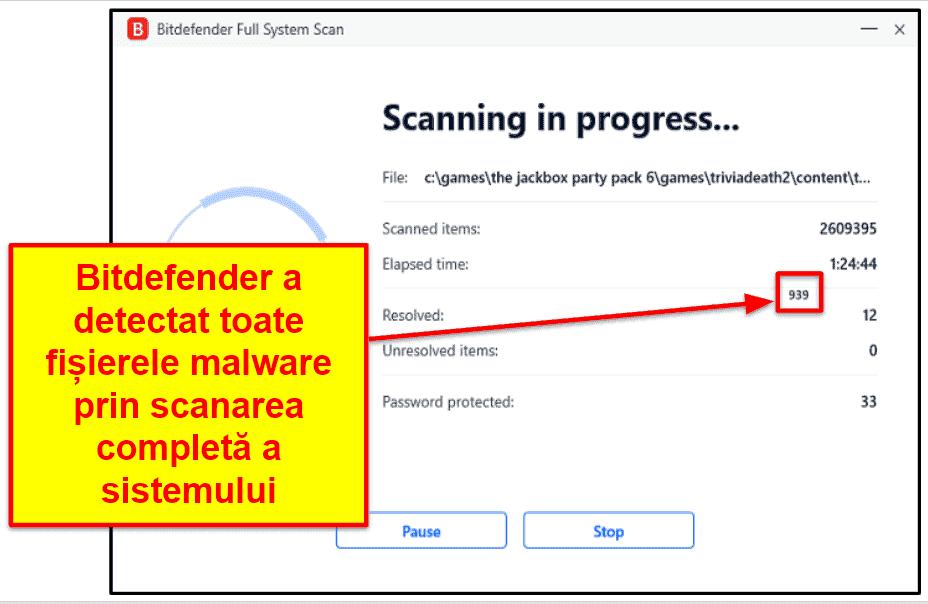 Funcțiile de securitate Bitdefender