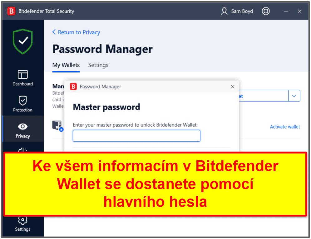 Zabezpečení Bitdefender