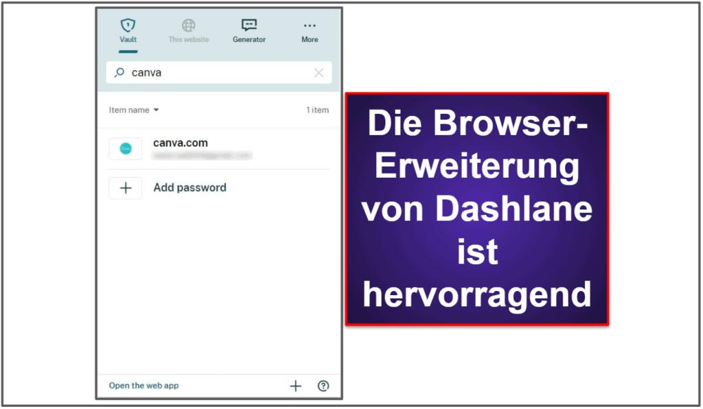 Benutzerfreundlichkeit und Installation von Dashlane