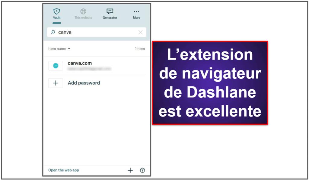 Facilité d'utilisation et d'installation de Dashlane