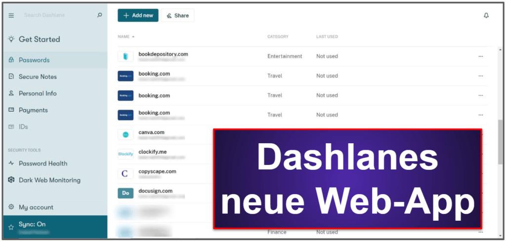 Dashlane – Sicherheitsfunktionen