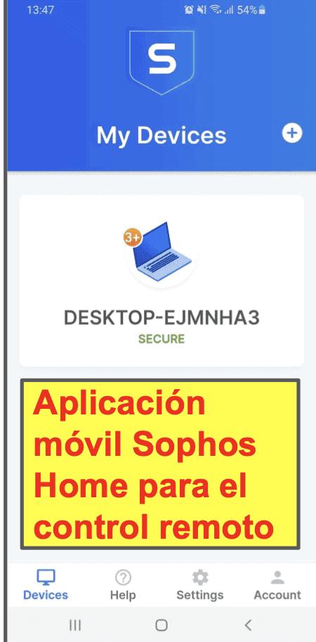 Aplicación móvil de Sophos Antivirus
