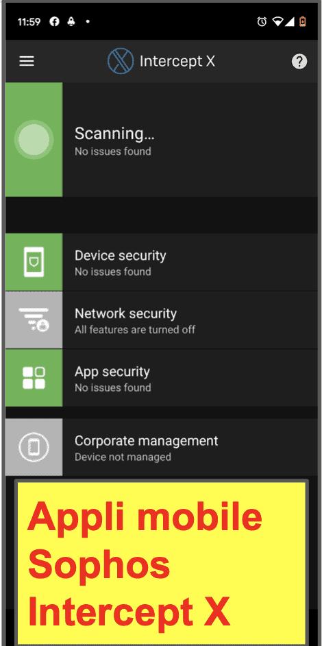 Appli mobile Sophos Antivirus