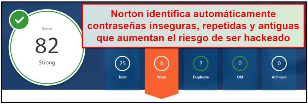 Funcionalidades de seguridad de Norton 360