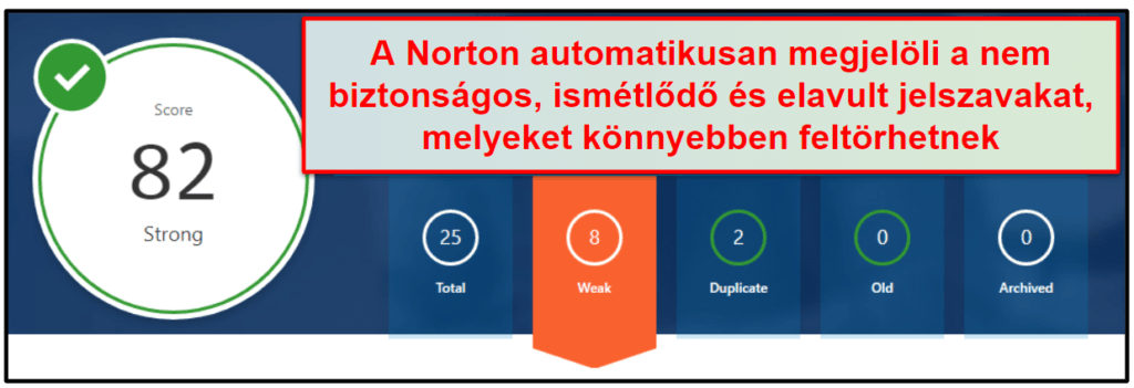 A Norton biztonsági funkcióiról