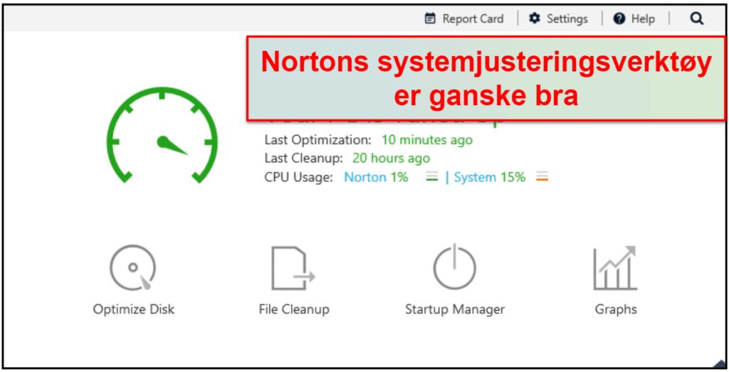 Norton sikkherhetsfunksjoner
