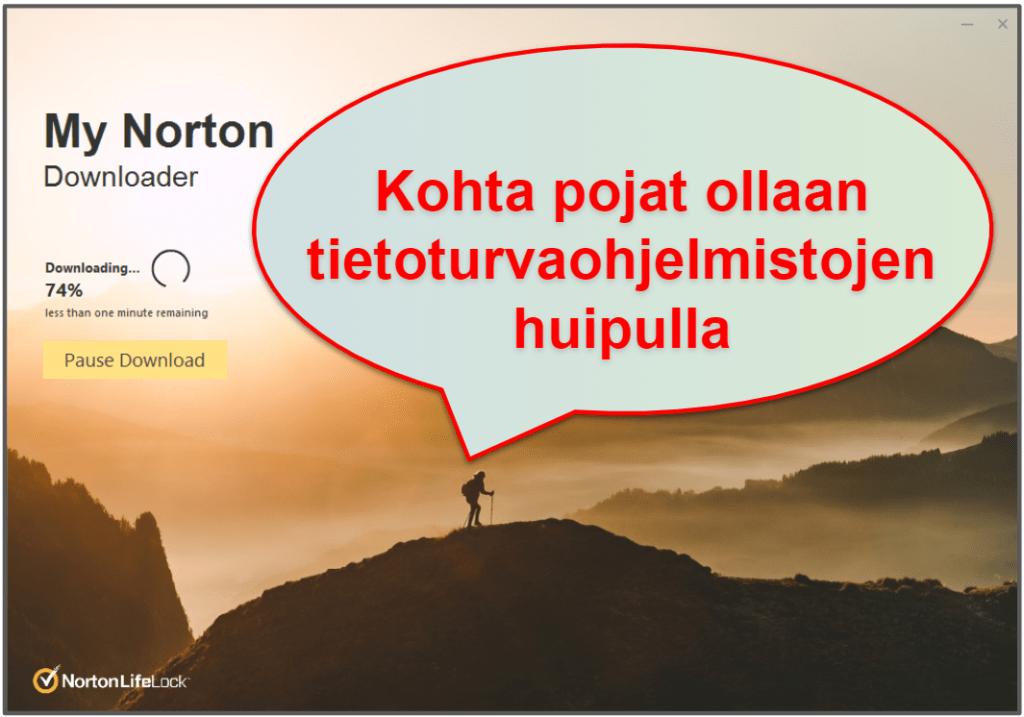 Norton 360 asennus ja helppokäyttöisyys