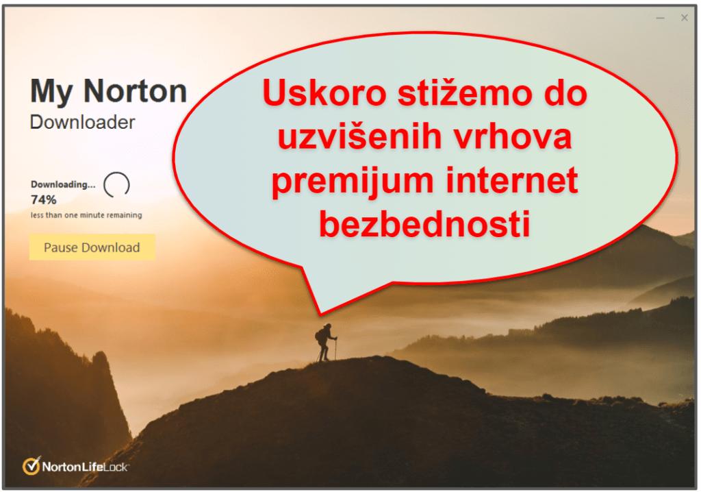 Norton 360 jednostavnost upotrebe i postavka