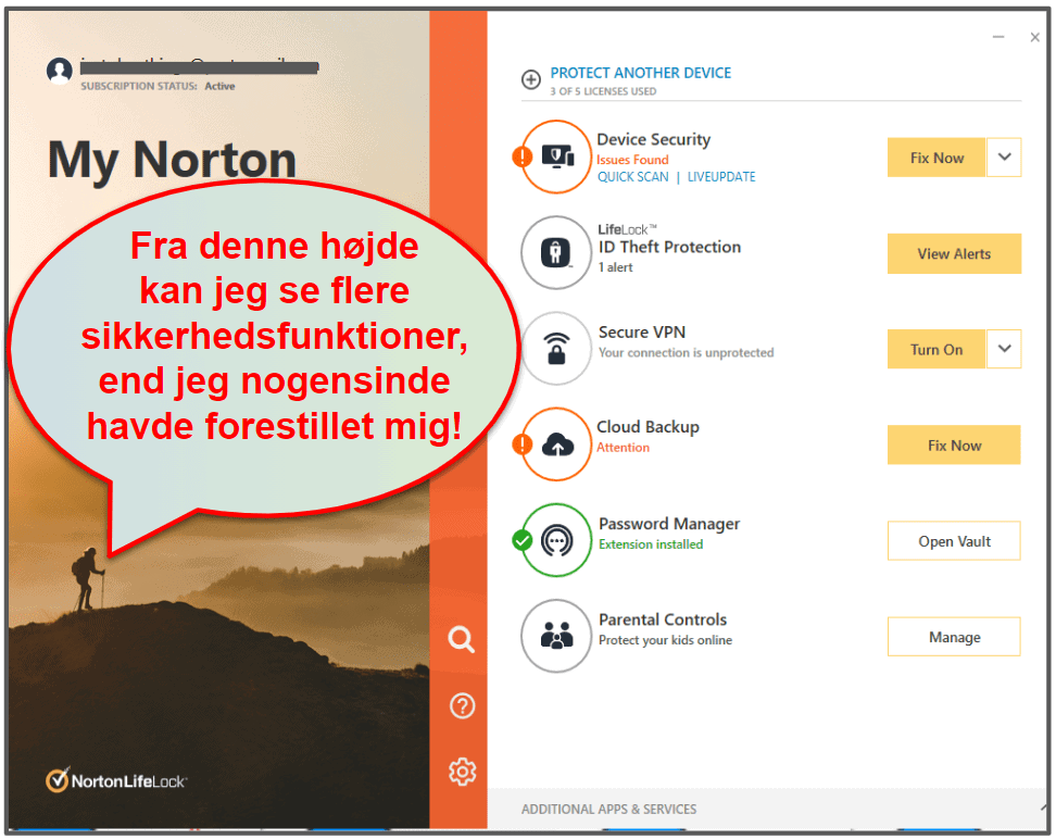 Norton 360 brugervenlighed og opsætning