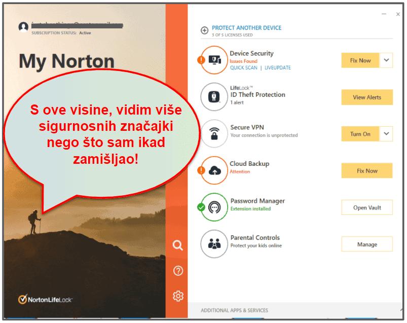 Norton 360 jednostavnost korištenja i postavljanje