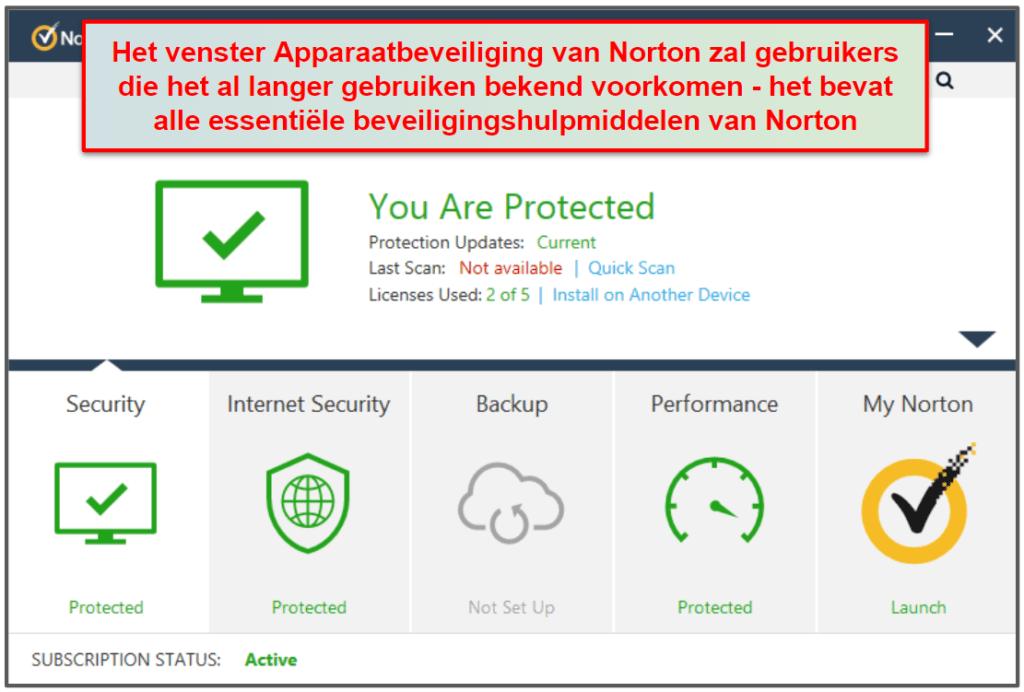 Norton 360 gebruiksgemak en installatie