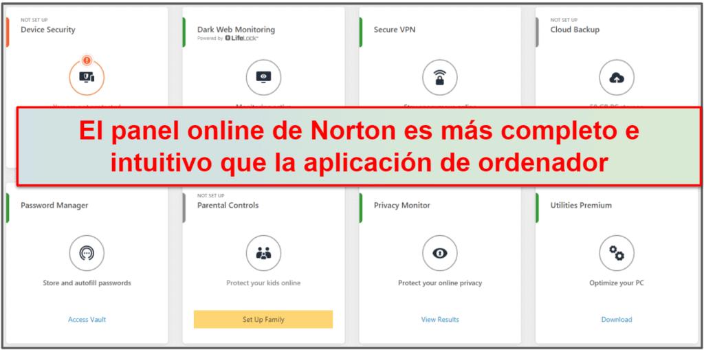 Facilidad de uso y configuración de Norton 360