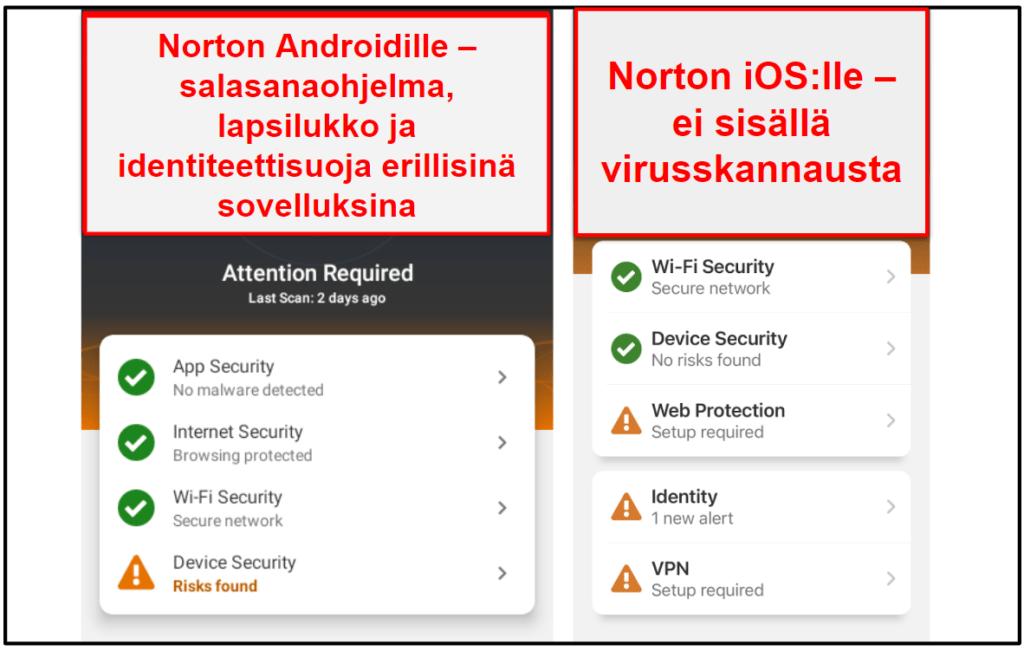 Norton 360 mobiilisovellus