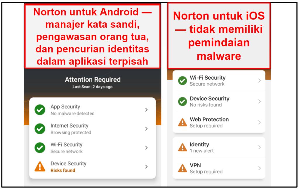 Aplikasi Seluler Norton 360