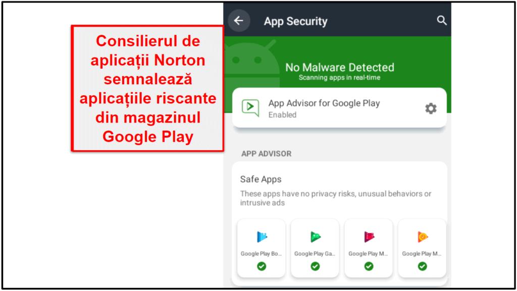 Aplicația mobilă Norton 360