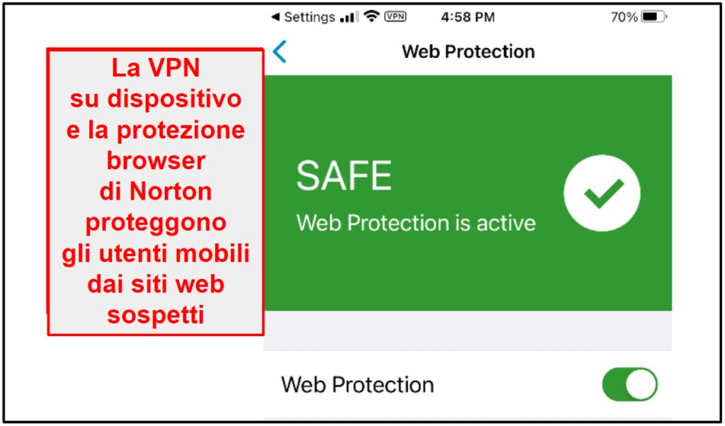 App per dispositivi mobili Norton 360