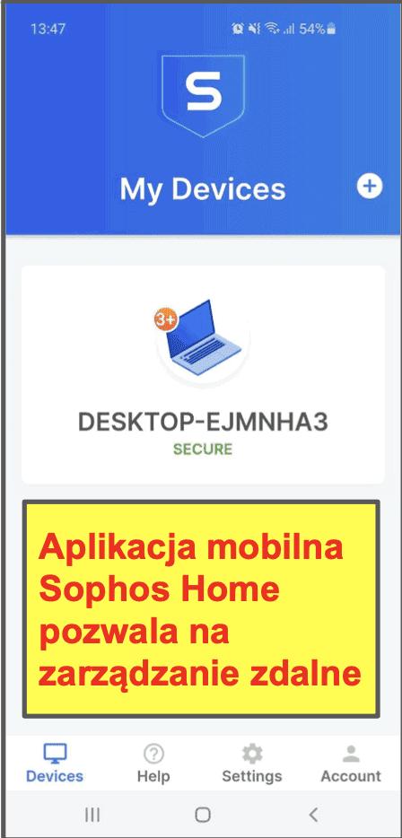 Aplikacja mobilna Sophosa