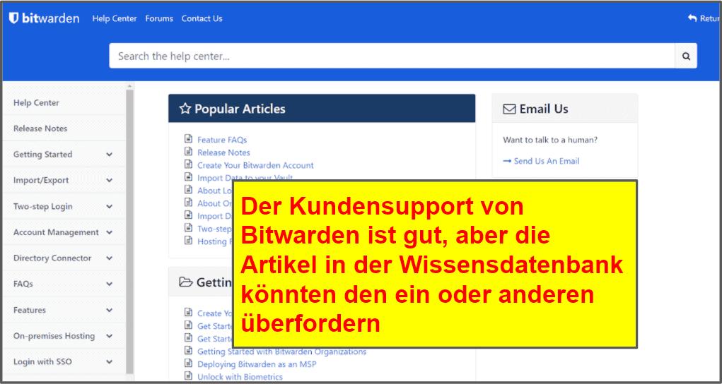 LastPass vs. Bitwarden: Kundensupport