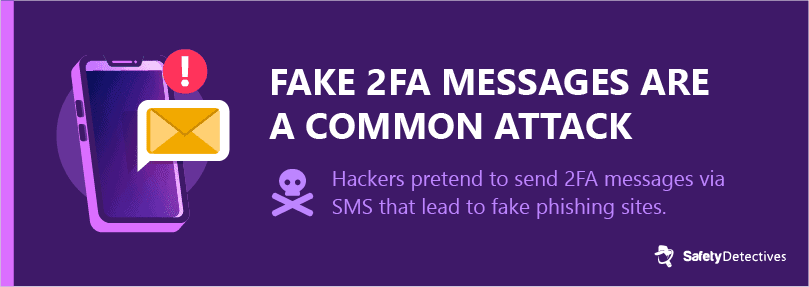 #5. Smishing attacks can steal user information using fake two-factor authentication (2FA) messages.