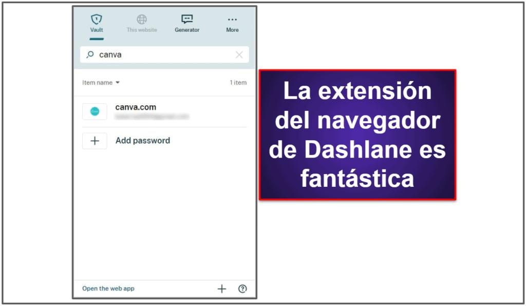 Facilidad de uso e instalación de Dashlane