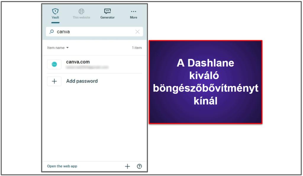 A Dashlane felhasználói élmény és a beállítások